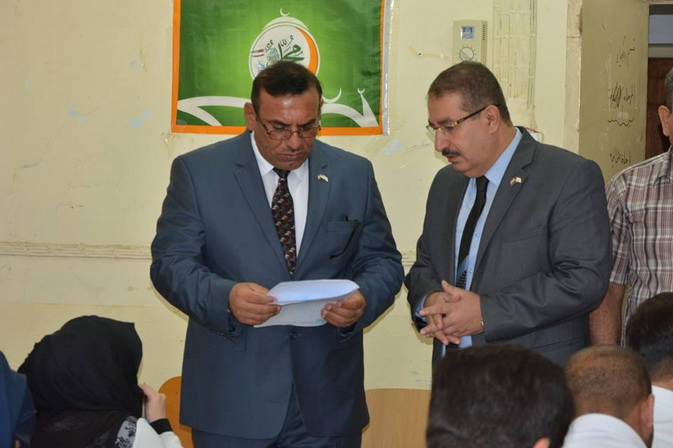 Administrative Assist. President visit the examination halls
