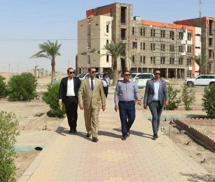 The President of Anbar University visits the university's original site
