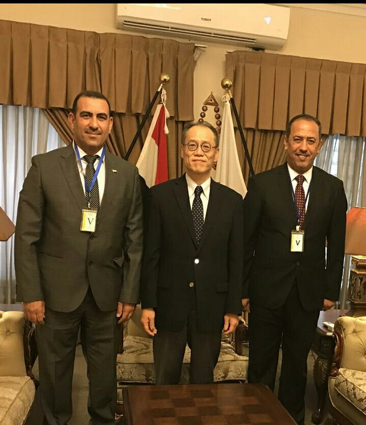 University President meets Japanese ambassador to Iraq