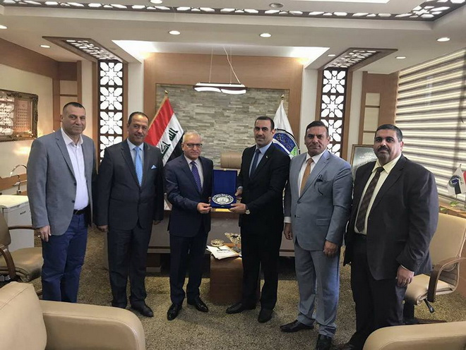 President of the University of Anbar visited the University of Baghdad on August 20th 2017